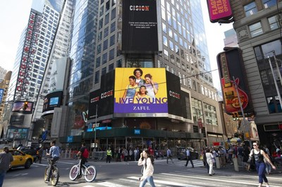 ZAFUL Showcased on Reuters Billboard in Time Square in NYC to celebrate 5th anniversary