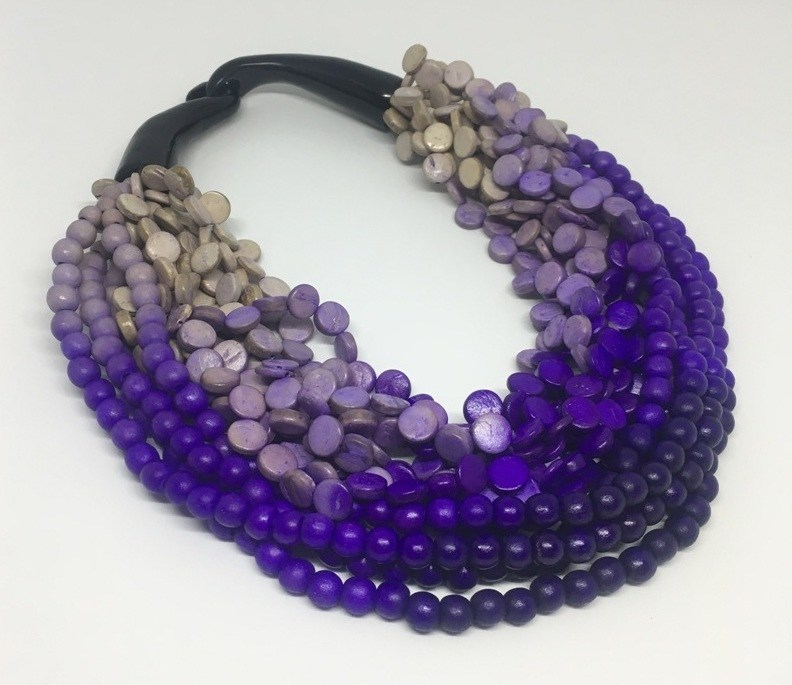 Striking multi-strand necklace by Unijel International Trading Inc