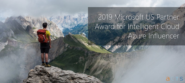 2019 MSUS Partner Award Winner - Intelligent Cloud - Azure Influencer