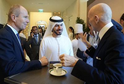 His Serene Highness Prince Albert II of Monaco; Mohamed Al Ali, CEO & Advisor of Sheikh Ahmed Al Maktoum International Investments Enterprise, UAE; Markus Lehner, Principal, Markus Lehner Family Office, Monaco and Summit Chairman.
