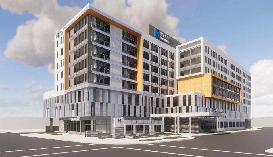 Rendering of 175-key Hyatt House Hotel to be built in Rochester, Minnesota.