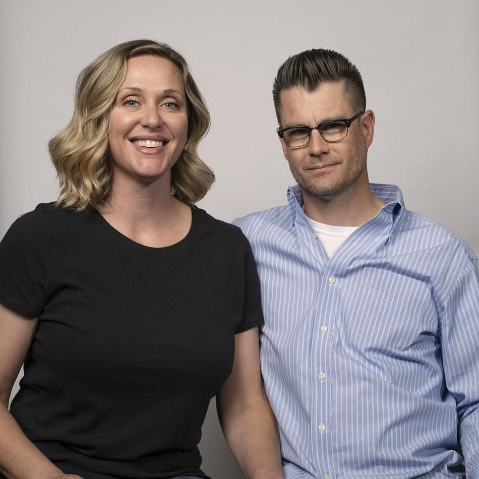 Blues Barbershop owner Jerone Wedig and wife Christi