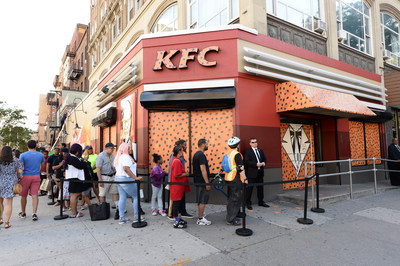 To celebrate his new role and launch the KFC Cheetos Sandwich, Colonel Chester took over a New York City KFC, hosting an exclusive pop-up event on June 27.
