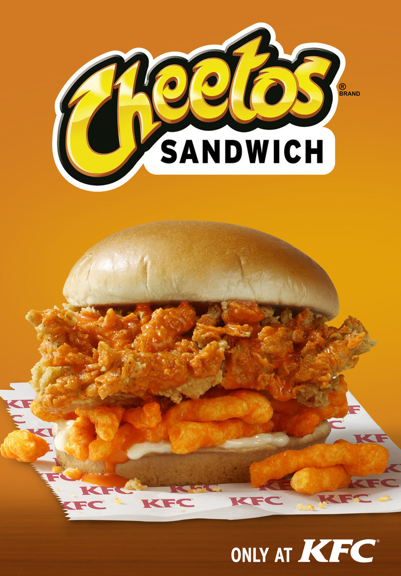 KFC and Cheetos® introduce the KFC Cheetos Sandwich, KFC's latest limited time menu item that will make all your crunchy, cheesy wishes come true.