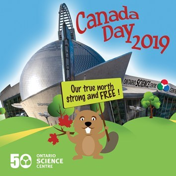 Ontario Science Centre celebrates Canada Day by offering the first 500 visitors free general admission on July 1, 2019. (CNW Group/Ontario Science Centre)