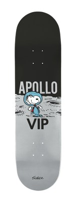 As part of the 50th anniversary celebrations of Apollo 11 & 10, six Snoopy- and Apollo-themed skateboards will be released this summer through a collaboration between Peanuts and The Skateroom, which creates and sells art edition skate decks to fund social skate projects for at-risk youth. (CNW Group/DHX Media Ltd.)