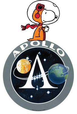 """In the 50th anniversary year of Apollo 11, Peanuts also commemorates the """"Dress Rehearsal""""—Apollo 10—that sent peanuts into Space as command and lunar module call signs """"Charlie Brown"""" and """"Snoopy"""". (CNW Group/DHX Media Ltd.)"""