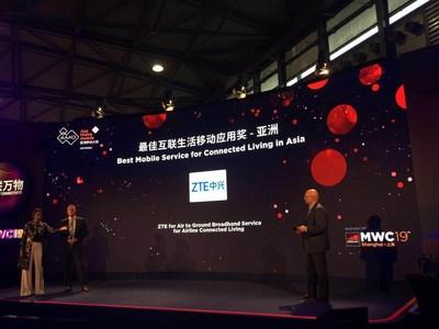 ZTE gana el Premio al Mejor servicio móvil para la vida conectada en Asia (PRNewsfoto/ZTE Corporation)