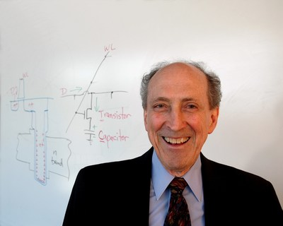 Dr. Robert H. Dennard, DRAM inventor and IBM Fellow Emeritus, will accept the 2019 Robert N. Noyce Award at the SIA Annual Award Dinner on Nov. 7 in San Jose.  Shown here beside his drawing of a DRAM cell.