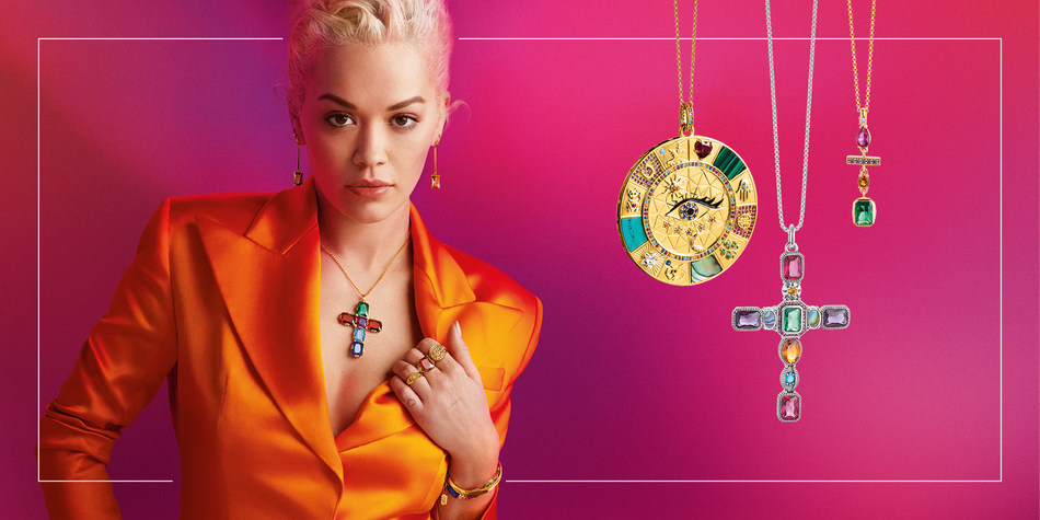 The Magic of Jewellery - THOMAS SABO presents its first campaign with new global brand ambassador Rita Ora. Known for her unique, creative and individual style mix, the singer will be the face of the THOMAS SABO world for the next two years. The THOMAS SABO Autumn/Winter Collection 2019 can be discovered from 15 July 2019. (PRNewsfoto/THOMAS SABO)