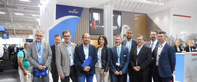 Representatives from IRT Saint Exupery, Aubert & Duval, Airbus, and Sciaky, Inc. during the 2019 Paris Air Show.