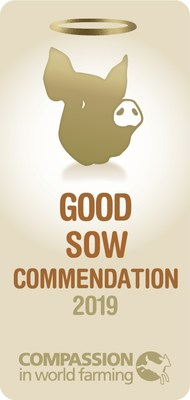 Compassion in World Farming awards Chipotle with the Good Sow Commendation in Pig Welfare.