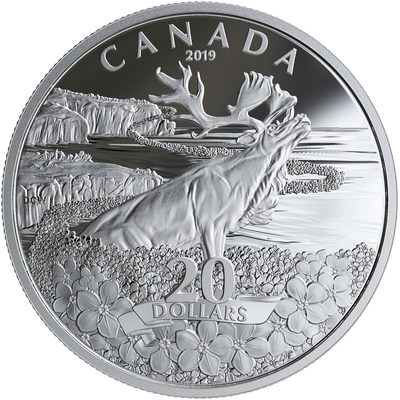 The Royal Canadian Mint's Forget-me-not silver collector coin