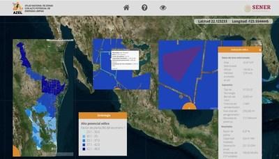 Figura 2. Atlas Nacional de Zonas con Alto Potencial de Energías Limpias (AZEL)
