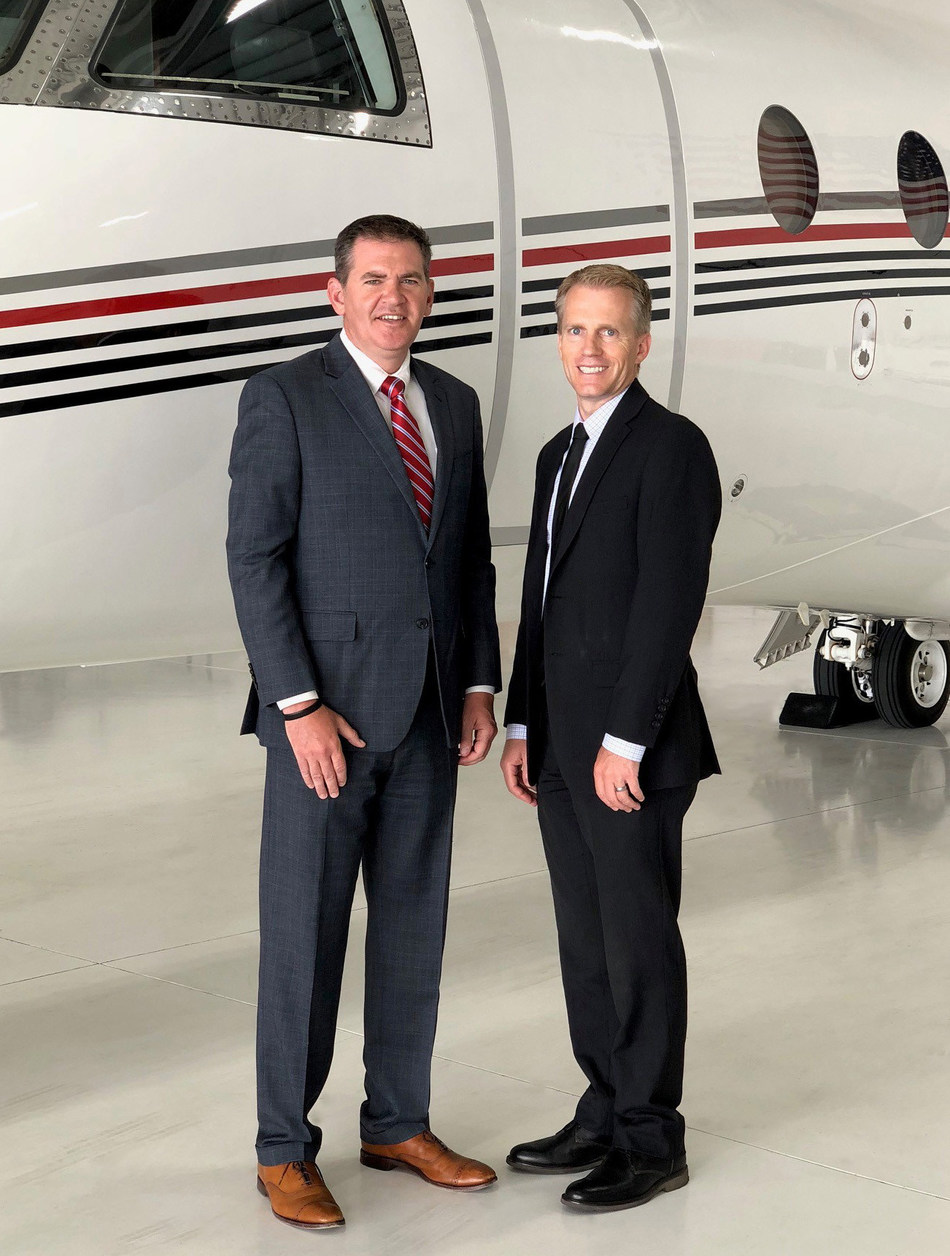 Joe Gibney, VP & COO of TAC Air and Aaron Fish, VP & COO of Keystone Aviation