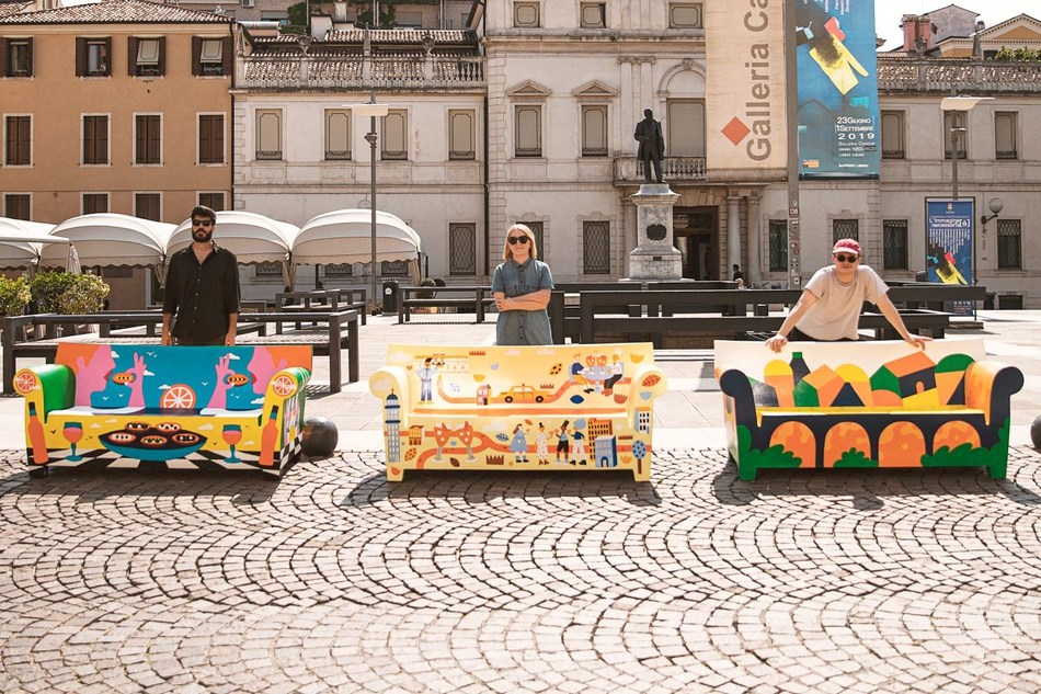 Aperol unveiled unique urban art in Padova to celebrate 100 years of sparking joyful connections around the world (PRNewsfoto/Aperol)