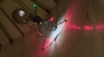 RoNik's patented drone inspects tank thickness