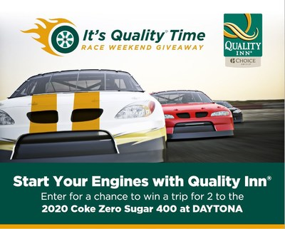 Quality Inn Revs Up with NASCAR Fan Giveaway to the 2020