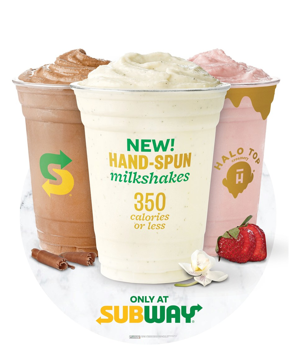 Beginning July 22 through September, 4 for a limited only, NEW! hand-spun Halo Top® milkshakes will be available exclusively at Subway® restaurants in six test markets: Colorado Springs, Colorado; Hartford, Connecticut; Longview and Tyler, Texas; Salt Lake City, Utah; Toledo, Ohio; and West Palm Beach, Florida.