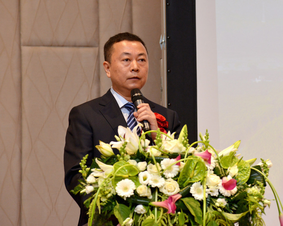 Liu Qiyu, member of the Standing Committee of Shaoguan Municipality and the Director General of the Publicity Department, delivers a speech at the event.