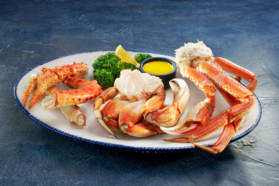 The NEW! Ultimate Crabfest® Trio features three wild-caught crab varieties together on one plate – King, Dungeness and a returning guest favourite – Bairdi.