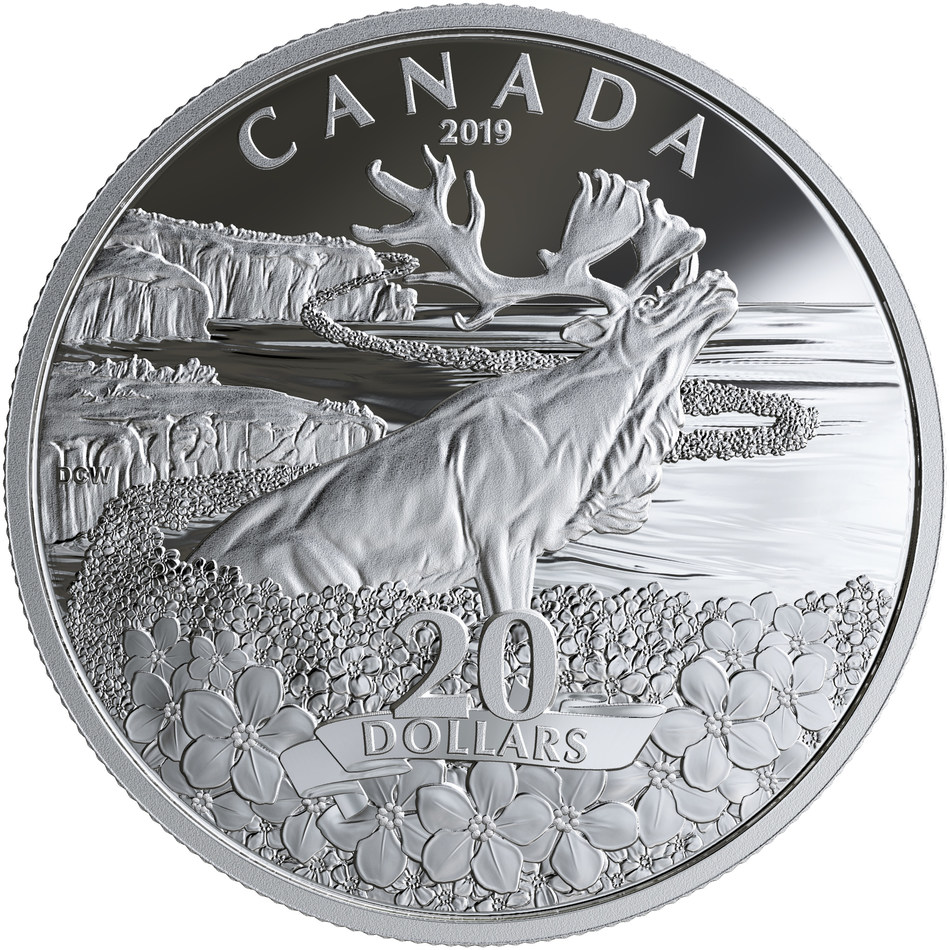 The Royal Canadian Mint's Forget-me-not silver collector coin (CNW Group/Royal Canadian Mint)