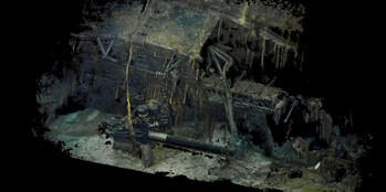 3D Photogrammetry Imagery of the deck gun and bridge of the USS S-28 lost 75 years ago on July 4th, 1944.