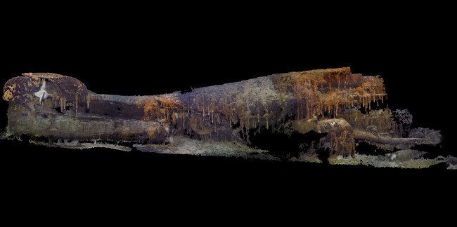 3D photogrammetry Imagery of the stern section of the USS S-28 lost 75 years ago on July 4th, 1944.
