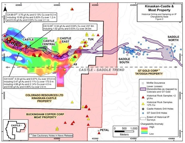 Kinaskan-Castle & Moat Property- Figure 2 (CNW Group/Buckingham Copper Corp.)