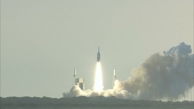 Ascent Abort-2 lifts off from Space Launch Complex 46. Photo Credit: NASA