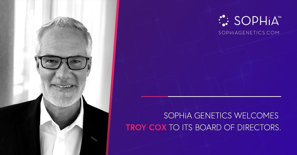 SOPHiA GENETICS Welcomes Troy Cox to Its Board of Directors