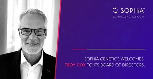SOPHiA GENETICS Welcomes Troy Cox to Its Board of Directors