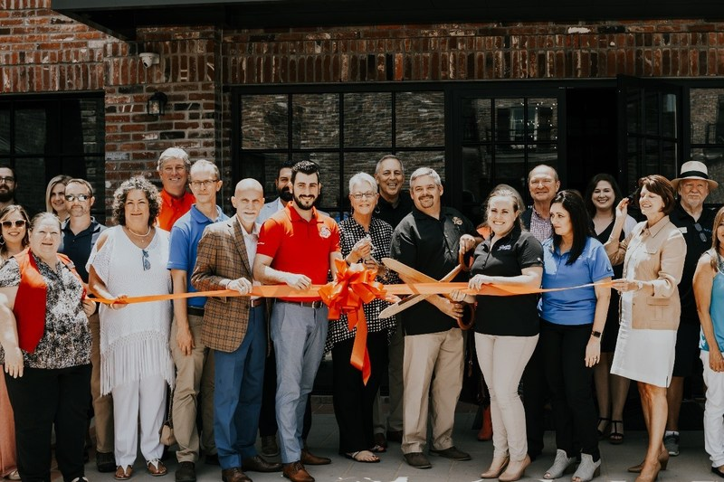 Master Blender, Reiniel Vicente, and Operations Director and Master Distiller, Jeff Murphy, cut the ribbon at the grand opening of Bayou Rum's barrel library and event center expansion on June 27, 2019 in Lacassine, LA.