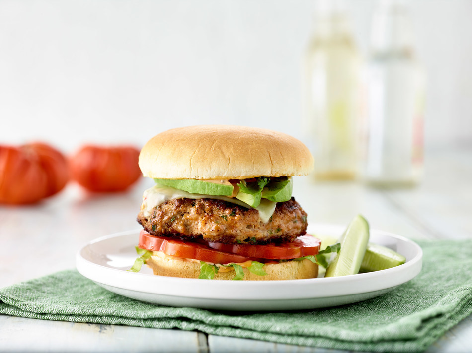 """It's not just any California-style burger from San Francisco chef and sommelier Christina Machamer. The winner of """"Hell's Kitchen"""" on FOX created the California Turkey Burger infused with spices and topped with veggies and cheese."""