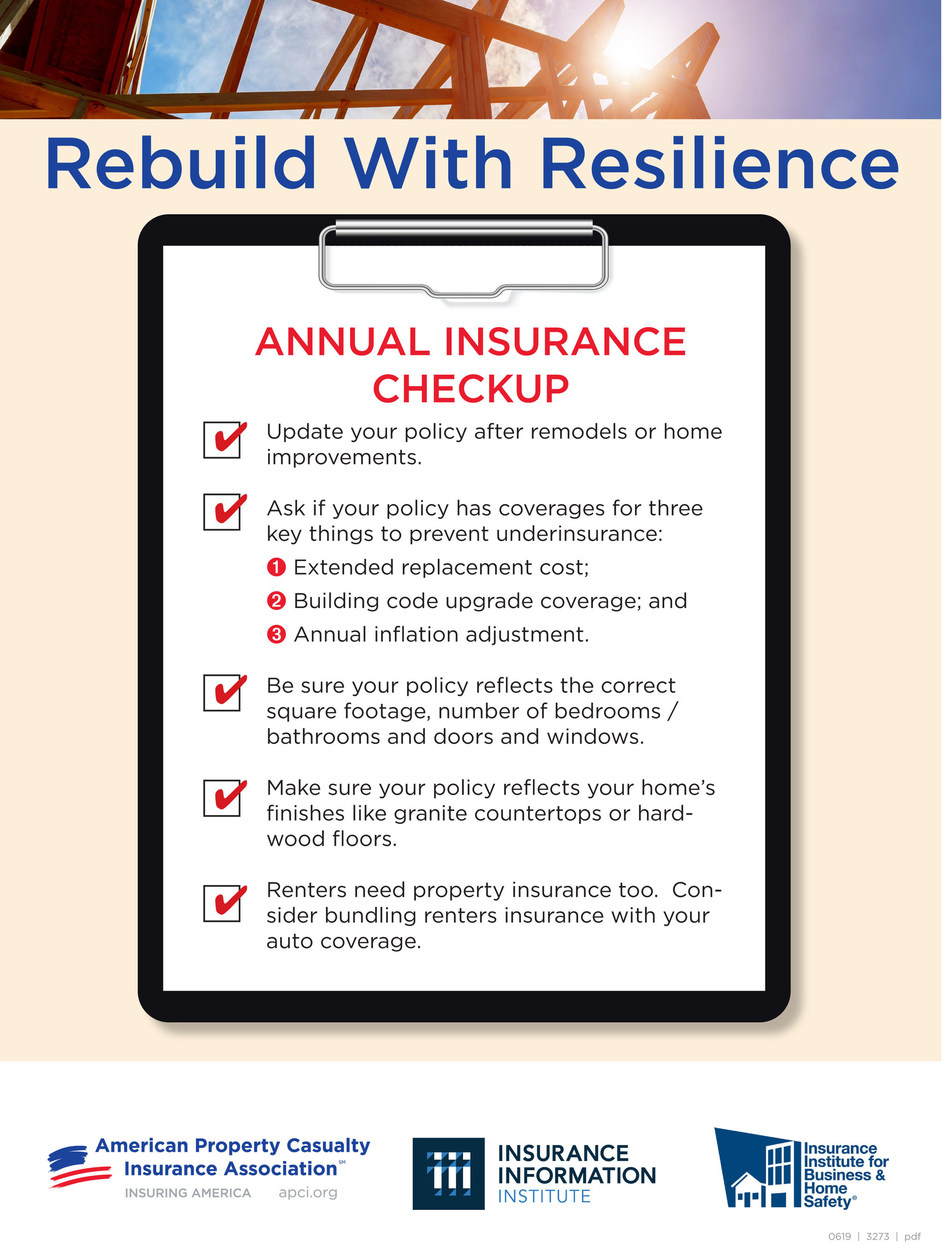 Rebuild with Resilience Annual Insurance Checkup