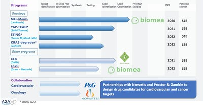 A2A Pharmaceuticals pipeline