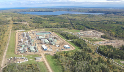 Aerial image of the Orion SAGD project in the Cold Lake oil sands region of Alberta. (CNW Group/Osum Oil Sands Corp.)
