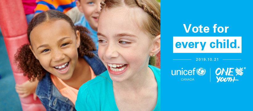 Vote for Every Child. (CNW Group/UNICEF Canada)