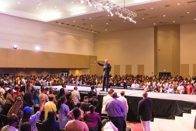 Opening night of The Well Experience hosted by Pastor Keion D. Henderson of LightHouse Church of Houston.