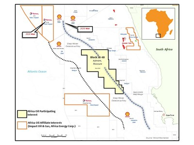 Africa Oil Announces Farmin to Azinam Block 3B/4B in South Africa (CNW Group/Africa Oil Corp.)
