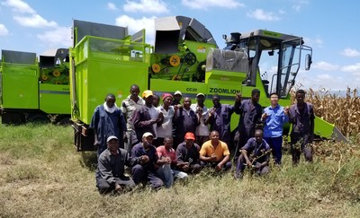 Zoomlion has customized the maize harvester for the Kenya market