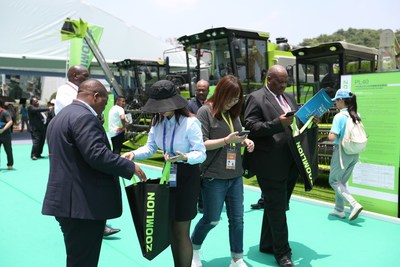 Zoomlion Agro Machinery at the Expo attracts many visitors' attention