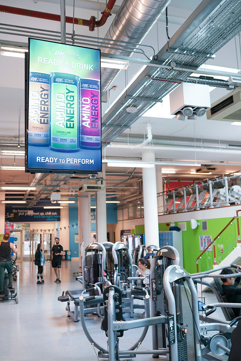 Zoom Media plans to roll out the all-new ceiling mounted D6 screens across their network