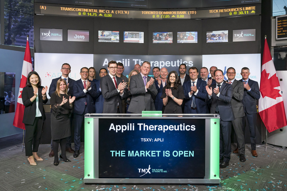 Appili Therapeutics Inc. Opens the Market (CNW Group/TMX Group Limited)