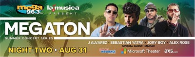 """Mega 96.3FM Announces One of the Most Anticipated Events of the Summer with """"Megaton Summer Concert Series"""""""
