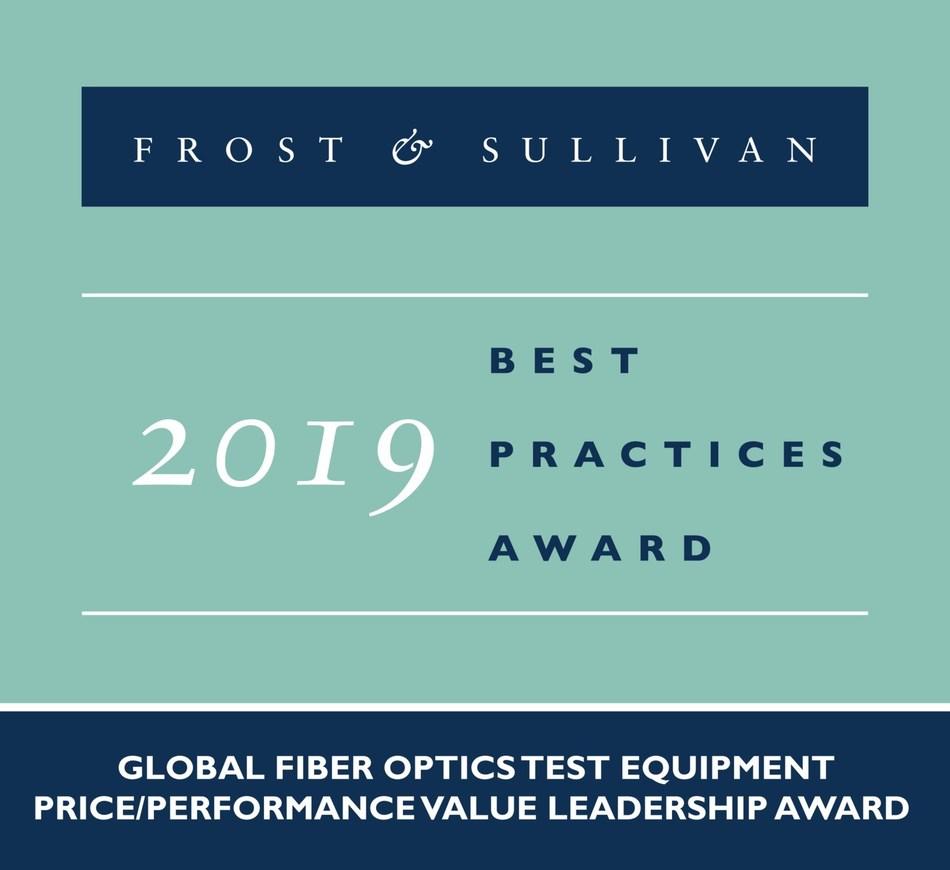 2019 Global Fiber Optics Test Equipment Price/Performance Value Leadership Award (PRNewsfoto/Frost & Sullivan)