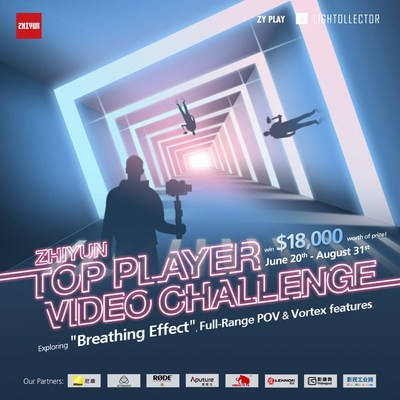 Make a Great Video and Win Prizes Worth up to $18,000 in Zhiyun's Top Player Video Challenge