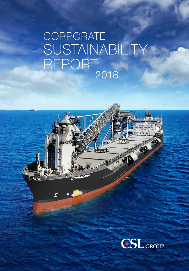 Corporate Sustainability Report 2018 (CNW Group/The CSL Group Inc.)