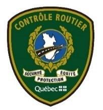 Logo : Contrôle routier Québec (Groupe CNW/Société de l'assurance automobile du Québec)