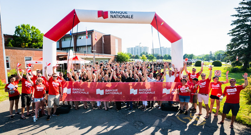 Over 300 employees and volunteers from National Bank are participating in the 9th annual NB Grand Tour. (CNW Group/National Bank of Canada)